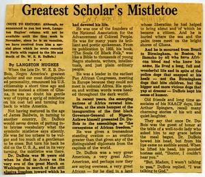 Greatest scholar's mistletoe