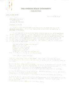 Letter from Elliot M. Rudwick to W. E. B. Du Bois