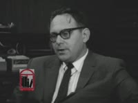 WSB-TV newsfilm clip of comments made by Sumter County attorney Warren Fortson, Georgia Governor Carl Sanders, and two other unidentified people regarding recent racial conflicts in Americus, Georgia, 1965 August 4