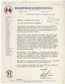Letter from Robert B. Patterson to All Officers and Members