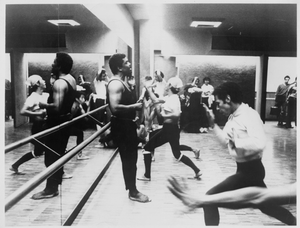 Alvin Ailey Instructing Dance Class