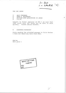 Fax from Mark H. McCormack to Haji Fukuhara