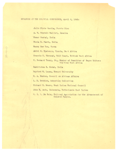 Speakers at the Colonial Conference