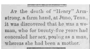 """Death of """"Henry"""" Armstrong"""