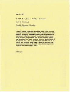 Memorandum from Mark H. McCormack to David A. Rees, John L. Macklin and Jack Melcher