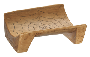 Boat seat with spider web design from Ecuador