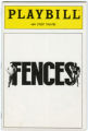 Fences Playbill Cover