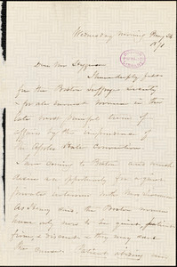 Letter from Harriet Beecher Stowe to Thomas Wentworth Higginson, 1871 May 24