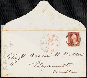 Letter from Charles F. Hovey, Bangor, [Maine], to Mary Anne Estlin, 1852 June 29