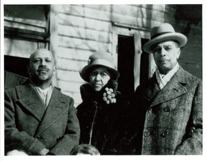 W. E. B. Du Bois, Nina Du Bois, and James Weldon Johnson in Great Barrington