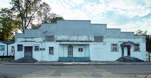 """The long-closed Union Theatre, once the """"Negro"""" or """"colored"""" movie theater in racially segregated Grenada, Mississippi"""