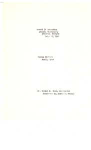 Student family histories: Thomas, David (McClendon, Hall)