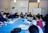 Church leaders in meeting with JCS Board Kirkeledere møder bestyrelsen i JCS (Joint Christian Services)