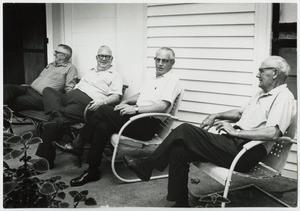 [Four Elderly Men on a Porch]