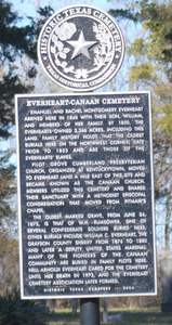 [Texas Historical Commission Marker: Everheart-Canaan Cemetery]