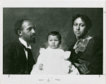 W.E. B. DuBois with his wife Nina and daughter Yolande ca. 1901