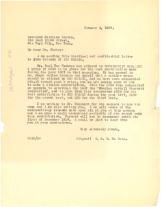 Letter from W. E. B. Du Bois to Hutchins Bishop