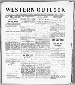 Western Outlook (San Francisco and Oakland, Calif.), Vol. 33, No. 12, Ed. 1 Saturday, December 18, 1926 The Western Outlook