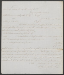 Court documents relating to the sale of a runaway slave, Henry Fisher, belonging to Charles Ellis of Fayette County, Shelby County, Ky.