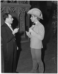 "Federic Franklin and Franz Allers at the Ballet Russe de Monte Carlo performance of ""Ghost Town,"" Los Angeles, 1940"