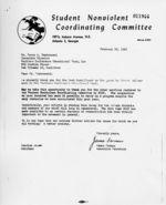 Letter: Atlanta, Georgia, to James A. Dombrowski, New Orleans, Louisiana, 1962 February 28