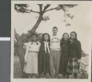 Virgil Lawyer with Students, Ibaraki, Japan, ca.1948-1952