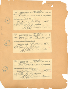 Collection of receipts, checks and financial statements