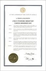 By the Governor of the State of Georgia, a proclamation, 2017 February 7 By the Governor of the State of Georgia, a proclamation: Lynch Syndrome Hereditary Cancer Awareness Day