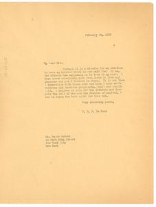 Letter from W. E. B. Du Bois to Waldo McNutt
