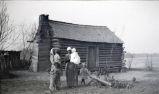 African Americans, cabin, mule & wagon