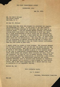 Letter from M H Hudnut