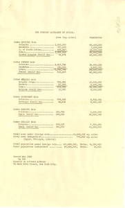 Fragment from Council on African Affairs bulletin
