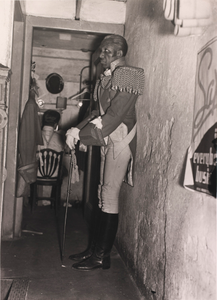 Backstage, WPA Theater Project, Haiti: The Story of Pierre-Dominique Toussaint l'Ouverture, Lafayette Theater, Harlem, from the Photo League Feature Group project Harlem Document