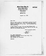 Letter: Atlanta, Georgia, to James Dombrowski, New Orleans, Louisiana, 1960 August 16