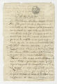 Deed to secure freedom of slave Victoriano