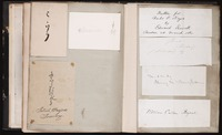 Two unnumbered autograph album pages with autographs in Japanese characters and autographs by Edward Everett, Henry Wadsworth Longfellow, and William Cullen Bryant