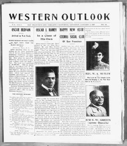 Western Outlook (San Francisco and Oakland, Calif.), Vol. 33, No. 14, Ed. 1 Saturday, January 1, 1927 The Western Outlook