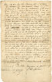 Bill of sale from Philip Hammond Hopkins to Nace Hall for Negro slave named Harriett (Hall's wife) and her children Mary Ann, George, Joseph, and Martha, dated February 28, 1839