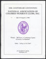 100th Anniversary Convention of the National Association of Colored Women's Clubs, Inc.