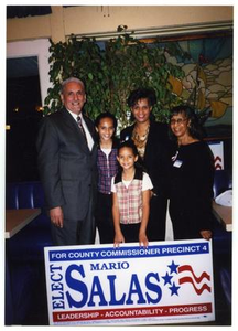 [Salas Family Indoors with Election Sign] Mario Marcel Salas Papers