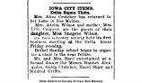 """Iowa City items, Delta Sigma Theta: Mrs. Alice Crutcher has returned to her home,"" November 4, 1920"