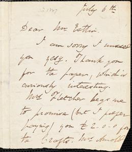 Letter from Harriet Martineau to John Bishop Estlin