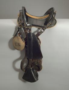 "Horse saddle used by stuntman Ernest ""Ernie"" Robinson"