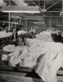 Women workers sewing silk into parachutes during World War II at Eastern navy yard, Baltimore