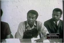 "Series of WSB-TV newsfilm clips of members of the Student Nonviolent Coordinating Committee (SNCC) discussing the ""Black Power"" philosophy, Atlanta, Georgia, 1966 May 23"