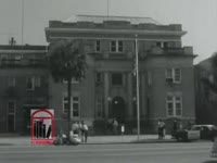 WSB-TV newsfilm clip of African American students arrested after a kneel-in at city hall in Albany, Georgia, 1962 July 27