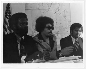 [Mario Marcel Salas and Two Men at Table] Mario Marcel Salas Papers