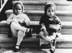 Two sisters on a porch
