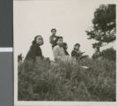 Student Sitting on a Hillside, Ibaraki, Japan, ca.1948-1952