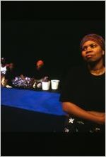 "Scene from the 7 Stages Theatre's production of ""Sweat,"" Atlanta, Georgia, February 3 - 25, 2001"